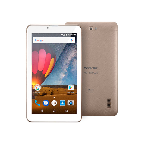 "Tablet Multilaser M7 7"" 3G Plus Dourado NB272"